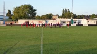 A beautiful August evening heralds a fine football match at Oak Park