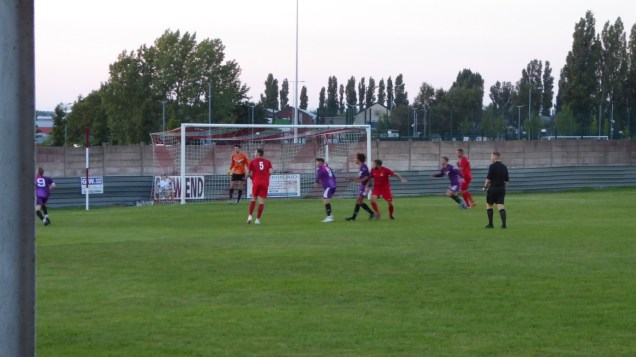 First half and the Wood's spirits are high after scoring and here they launch another attack on Loughborough's goal.