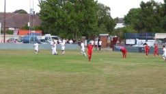 Romulus celebrate their second goal and are gear to get on with the game….but..well, you know the Wood….