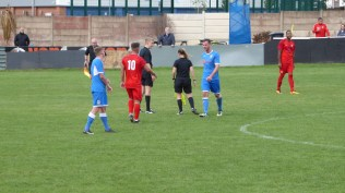 The match ends and the Wood players shake hands with nearly all of their opponents. Honours even, then.
