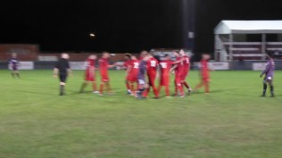 Celebration, and a blurred image. Very nearly full time now.