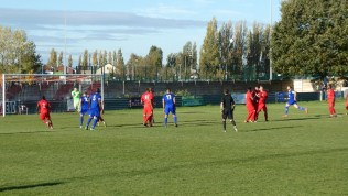 Later in the first half and a free kick is sent into the sky by Quorn.