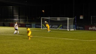 Second half and an amazing no goal as the ball rockets right across Boldmere goalmouth. Strewth