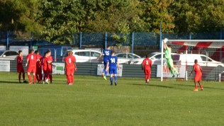 Second half and Quorn join in the hunt for a goal from an unusual free kick. Excellent goalkeeping save.