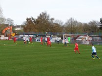 Coventry begin to show their skill as they respond well, here challenging to Wood's resolute defence