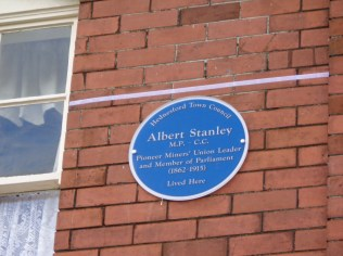 The Blue Plaque in place