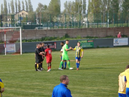 The match ends Players shake hands with their worthy opponents.