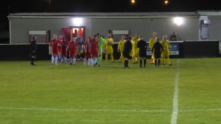 Uttoxeter Town played in their yellow away strip this evening