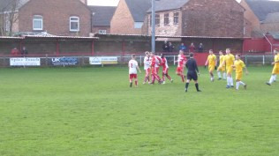 Gresley celebrate their first goal.