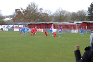 Then, a few minutes later, another goal by the Wood. The crowd go bananas! Understandable