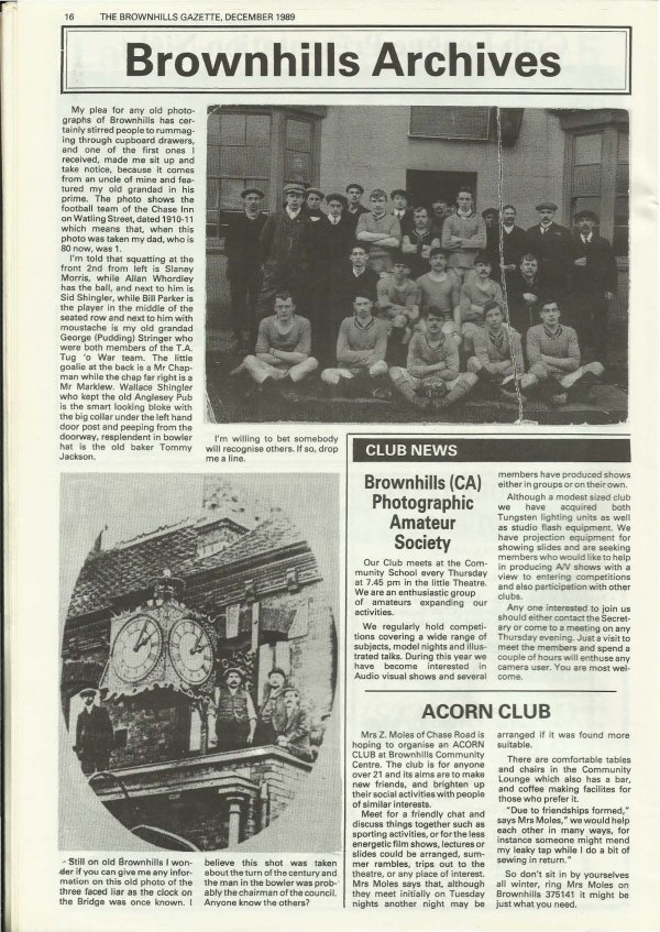 December 1989 Shopkeepers angry about the neglect of