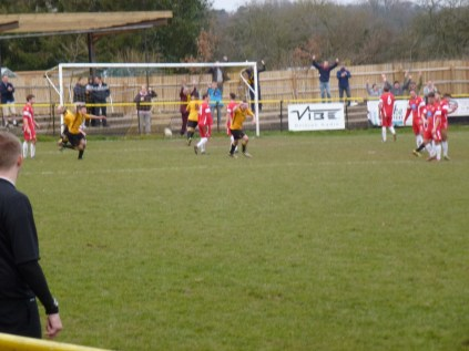 Winning goal to Alvechurch in the last few minutes, from a free kick awarded by the referee.