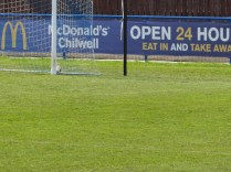 In the back of the net. Goal to the Wood.