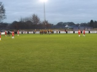 And Rocester score their third goal. The tempo and temperature of the game reflect increasing urgency.