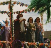 1996: Paul Burton as Merlin, Myself and Miriam Downes