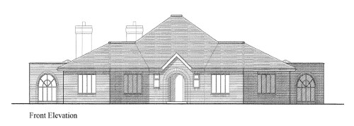 Proposed bungalow: Front elevation