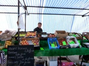 Fruit stalls still seemed to be doing well