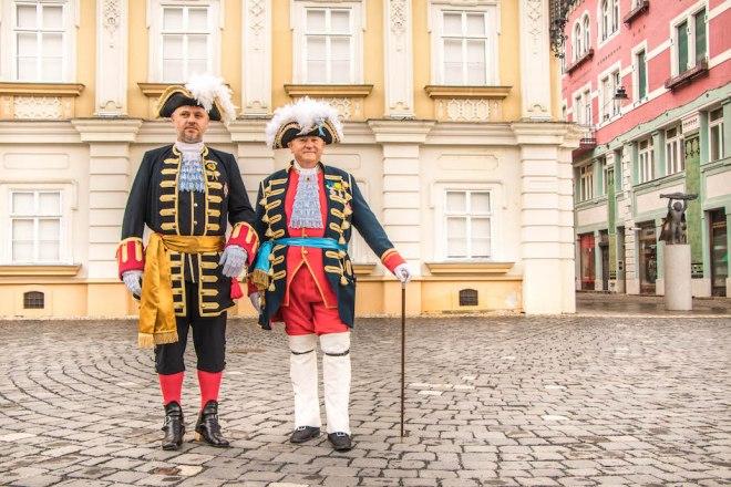 Guard change in Timisoara
