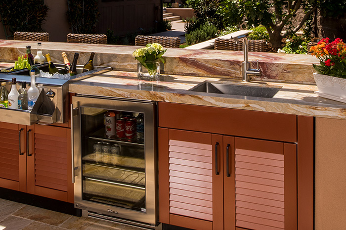 brown kitchen sink showrooms outdoor cabinet jordan kitchens cabinets stainless steel