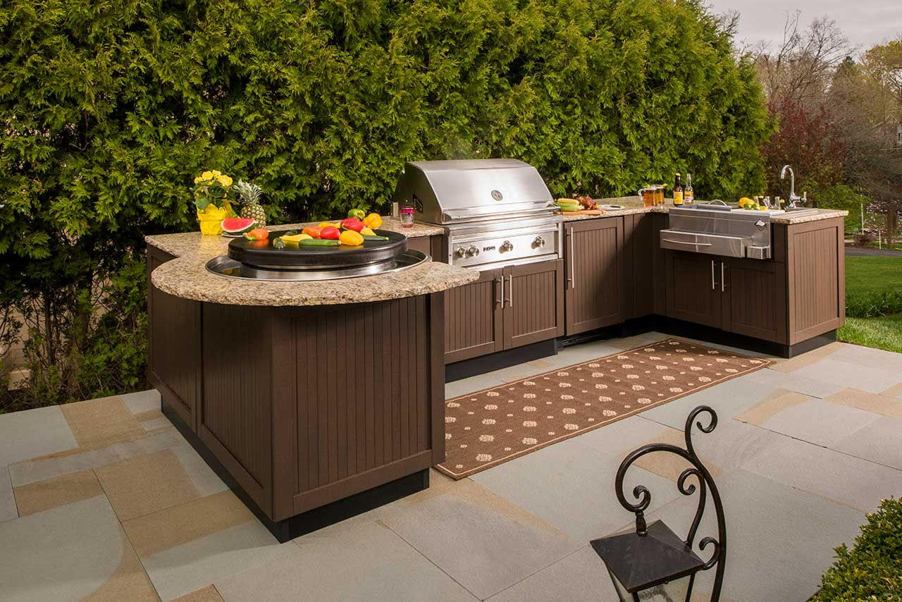 brown jordan outdoor kitchens colorful kitchen chairs designs