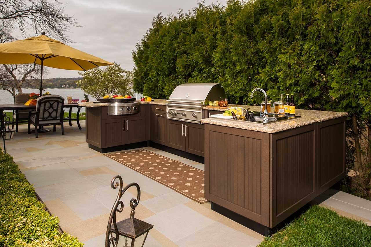 brown jordan outdoor kitchens kitchen utensil holder ideas
