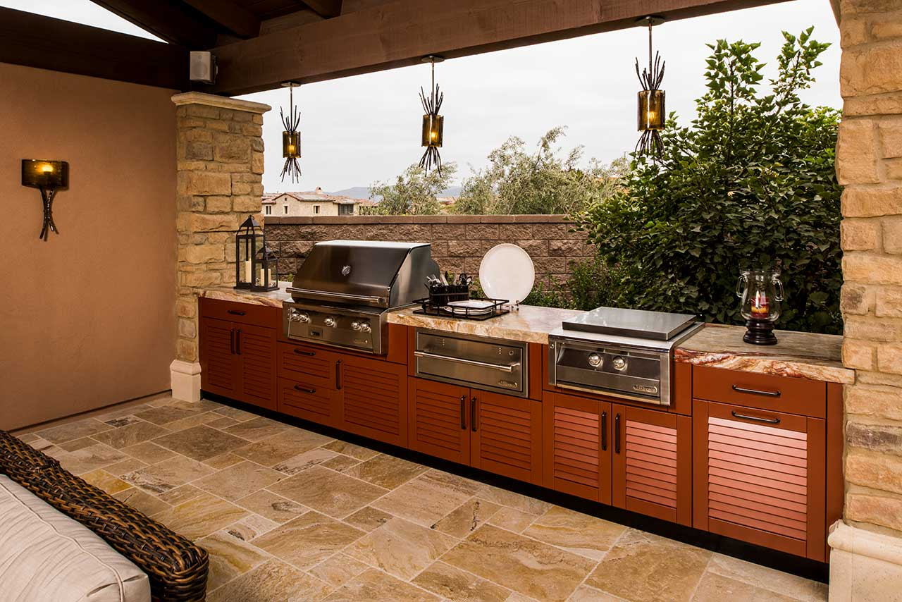 brown jordan outdoor kitchens black walnut kitchen table ideas