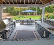 outdoor covered kitchen