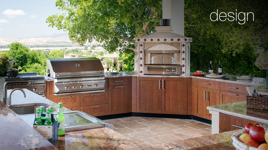 outdoor kitchen pizza oven design faucet aerator luxury kitchens | brown jordan