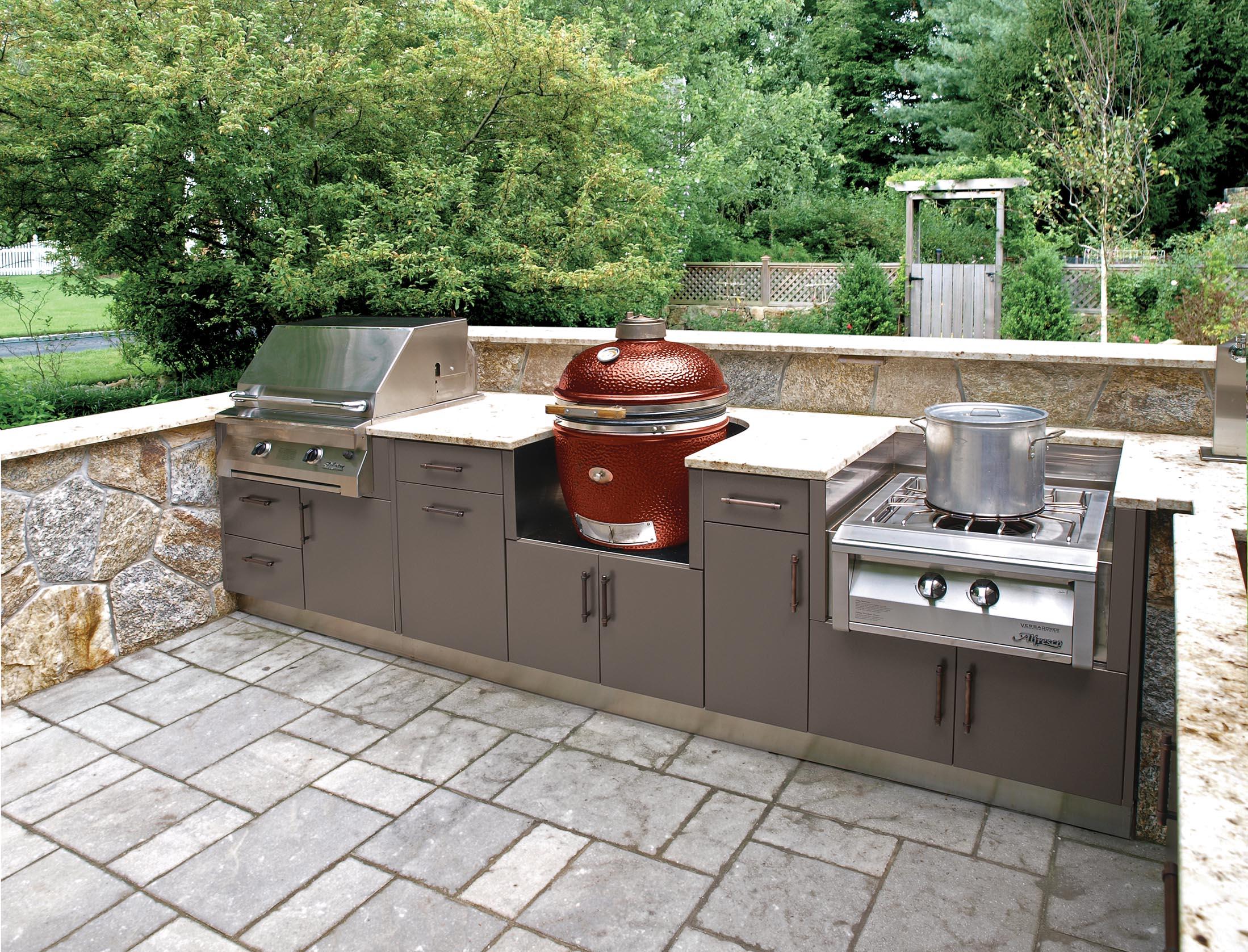 brown jordan outdoor kitchens large kitchen sink ideas for football season
