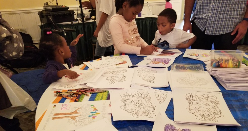 Craft Table at Brown Kids Read Event