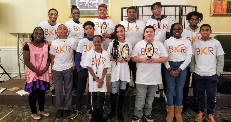 Volunteers at the first Brown Kids Read Event