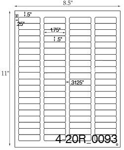 Standard Mailing Label Size : standard, mailing, label, Labels, Sheet, Laser, Label, Sheets,, Inkjet, Custom, Printed
