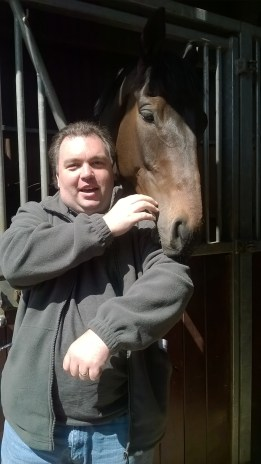 Me and Towering in his Stable Box