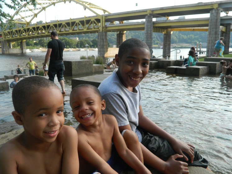 Fun at the water steps @ PNC Park