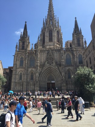 The appropriately-named Barcelona Cathedral, a few blocks from our spot