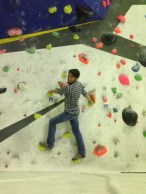 I didn't come well dressed for climbing
