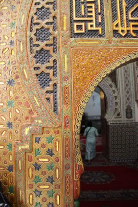 The entranceway to the tomb of the founder of Fes