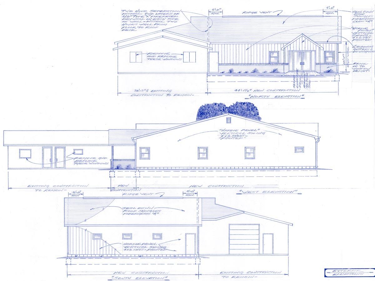 Brownsburg Animal Clinic exterior plans