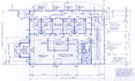 Brownsburg Animal Clinic addition blueprint