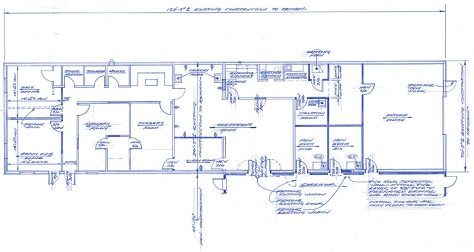 Brownsburg Animal Clinic existing space blueprint