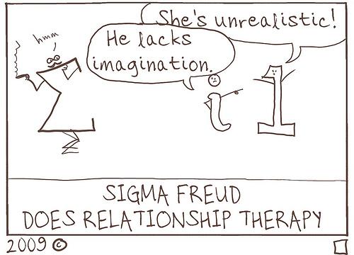 Sigma Freud fazendo terapia das relações