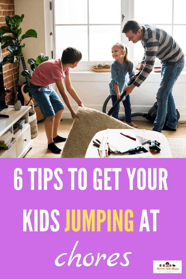 Giving your kids age appropriate chores will teach them some great life skills and discipline along the way. You can use chore charts to help monitor this and make it fun for your children to use. These 6 tips are great for all families to use.