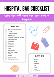 Hospital bag checklist download