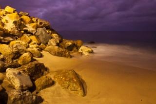 Rocky Beach in Malibu at Sunset, Malibu, California, United States of America