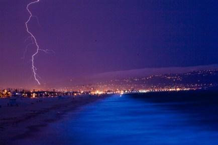 Lightning over Palos Verdes, California