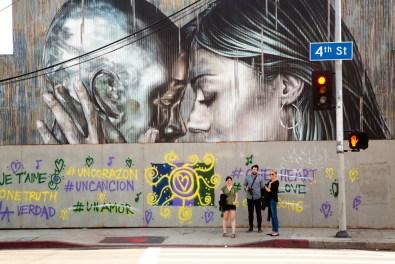 Street art, Arts District, Los Angeles, California, USA