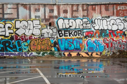 Graffiti, East Los Angeles, California, USA