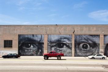 Eyes by artist JR, near Union Station