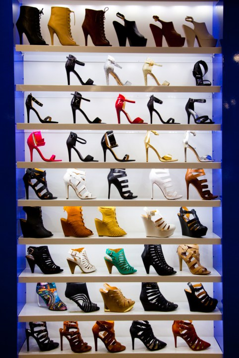 Display at a shoe store on Hollywood Blvd., Los Angeles, California, USA