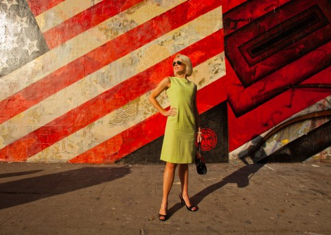 Woman in Green Dress, Melrose Ave. Los Angeles, California, United States of America